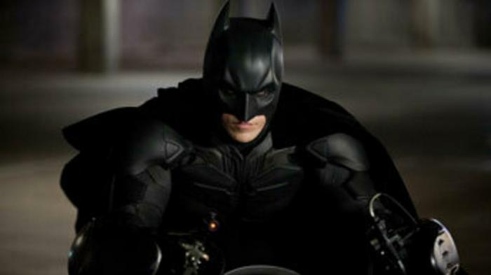 the dark knight on batpod