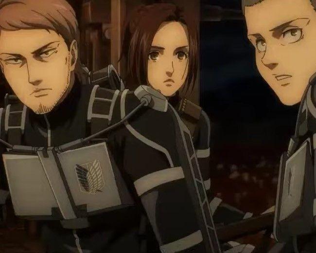 Jean, Connie, Sasha on Attack on Titan Season 4