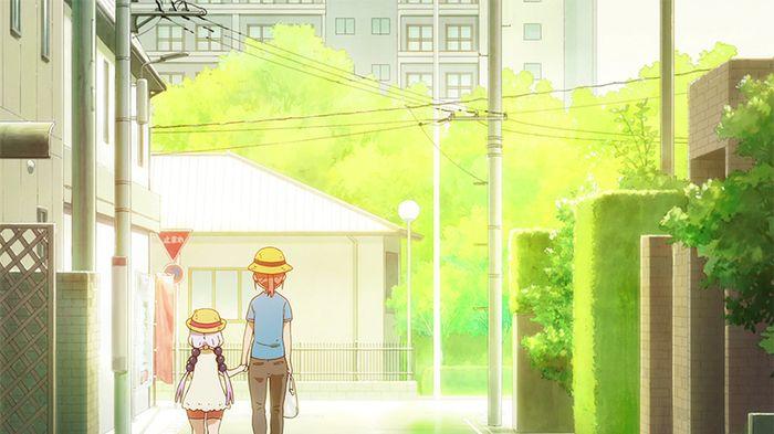 Kobayashi and Kanna in Miss Kobayashi's Dragon Maid Season 2 Episode 10. Photo from Kyoto Animation.