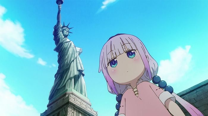 Kanna in Episode 10 of Miss Kobayashi's Dragon Maid S. Photo from Kyoto Animation.