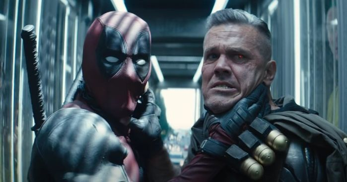 Deadpool and Cable meet the Juggernaut.