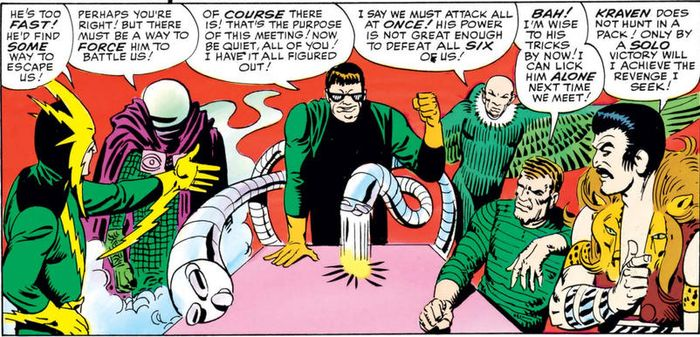 sinister six assemble to defeat spiderman