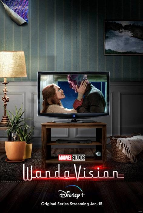 WandaVision Poster with Peeling Wallpaper