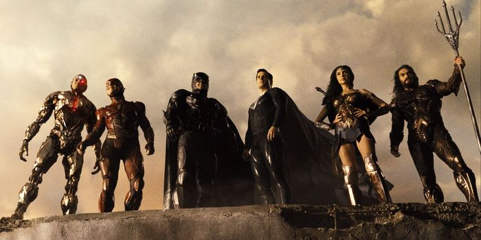 Justice league team together in film