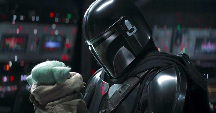 Mando and Baby Yoda's emotional farewell.
