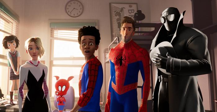 All spider-men from into the spidey-verse
