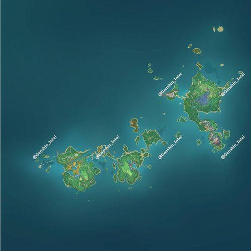 Image showing the Inazuma island chain in Genshin Impact