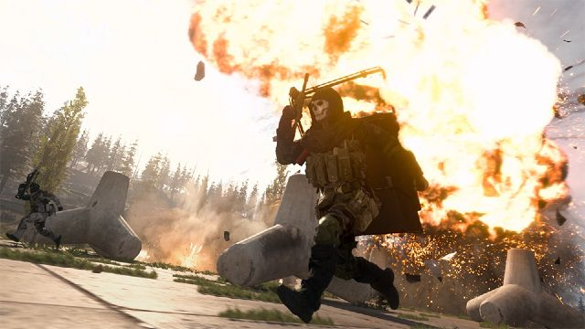 Ghost Warzone Operator Running Away From Explosion