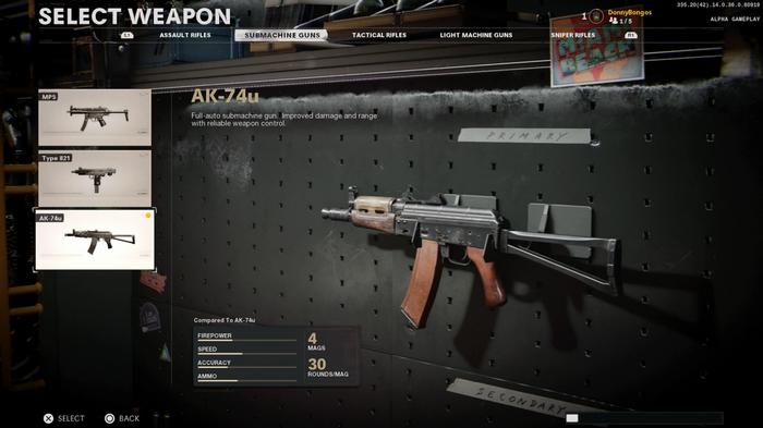 Black Ops Cold War AK74u