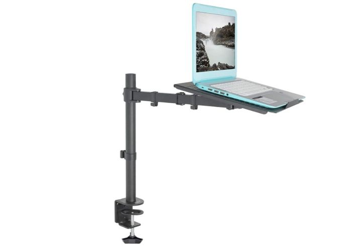 Best Laptop Stand Vivo, product image of black laptop stand with laptop