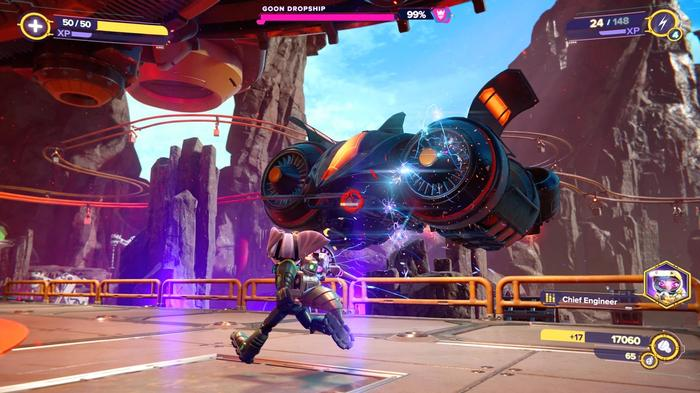 Ratchet and Clank Rift Apart review combat