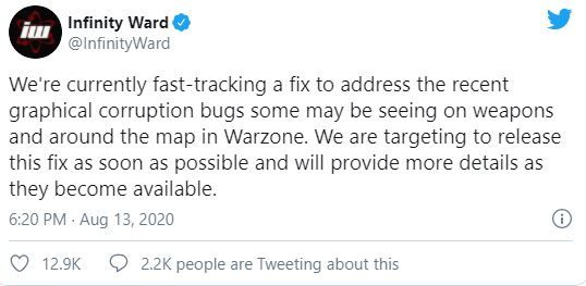 Warzone Gun Glitch Fix