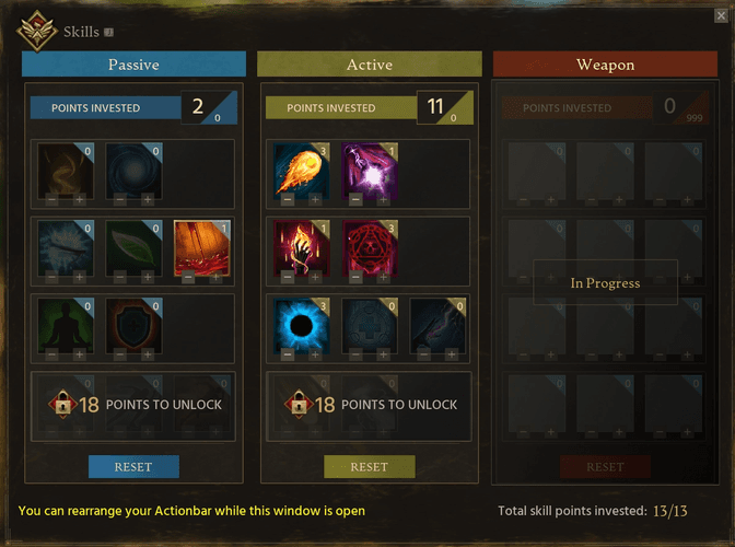 The Mage skills in Ashes of Creation.