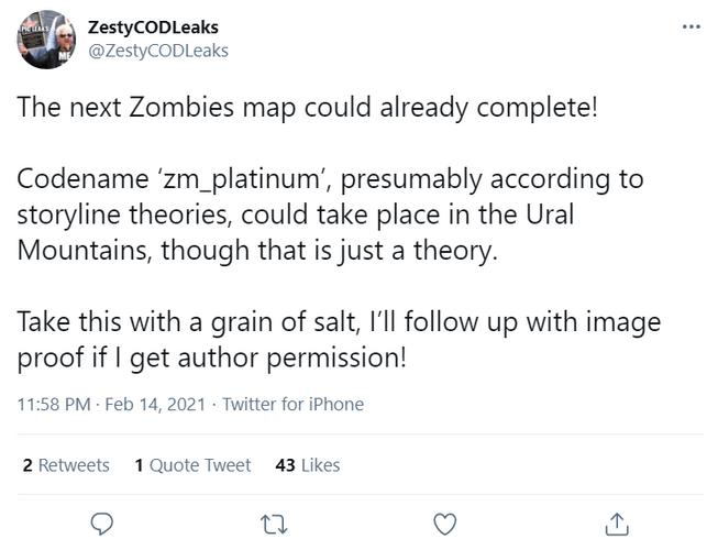 Third Zombies Map Cold War