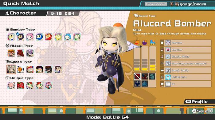 Super Bomberman R Online Alucard Bomber