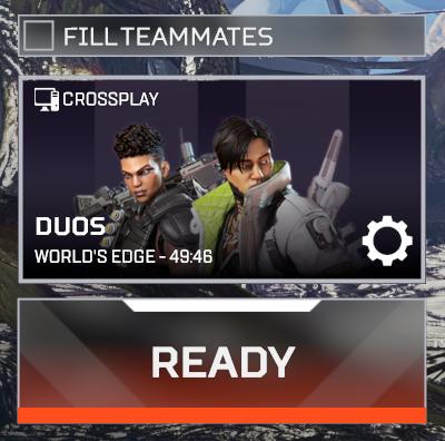Apex Legends Fill Teammates option