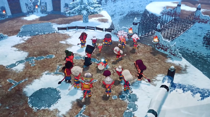 The new art style for Dragon Quest X Offine