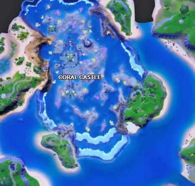 The Coral Castle POI in Fortnite Season 6
