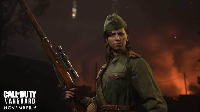Polina From COD Vanguard Holding Sniper Rifle
