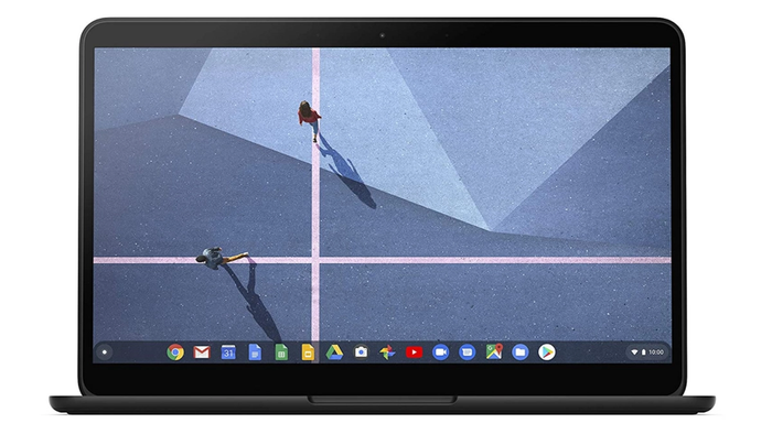 best laptop for programming, product image of a black Chromebook