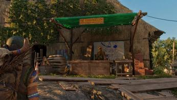 The Far Cry 6 Construction Desk, found at all Guerrilla Camps, which can be used for building and upgrading facilities around Yara.