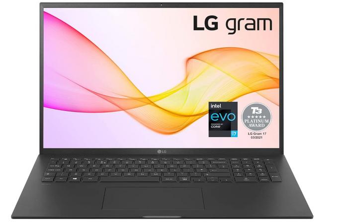 best laptops for programming, image of a black LG laptop