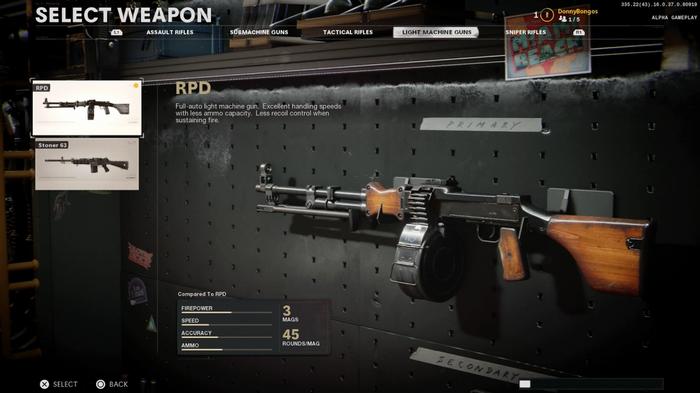 RPD Black Ops Cold War