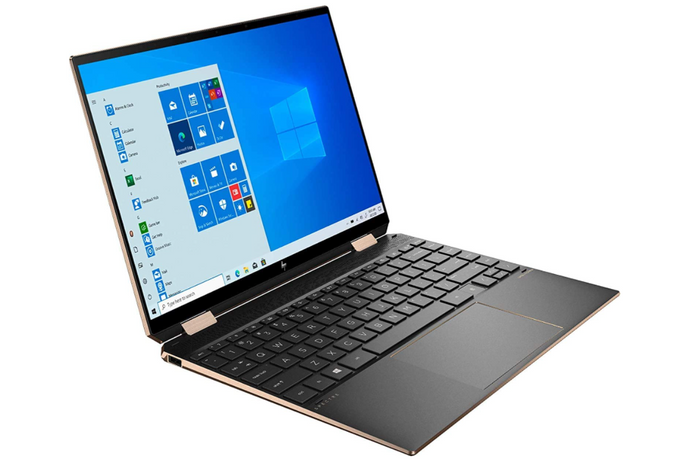 best laptop for programming, image of a black and gold laptop