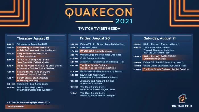 QuakeCon 2021 schedule