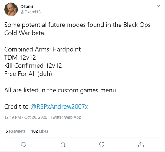 Black Ops Cold War New Game Modes