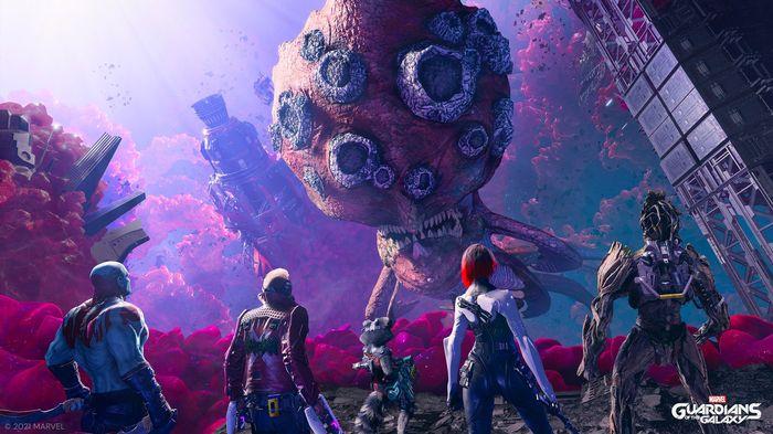 Guardians of the Galaxy game screenshot showing big monster