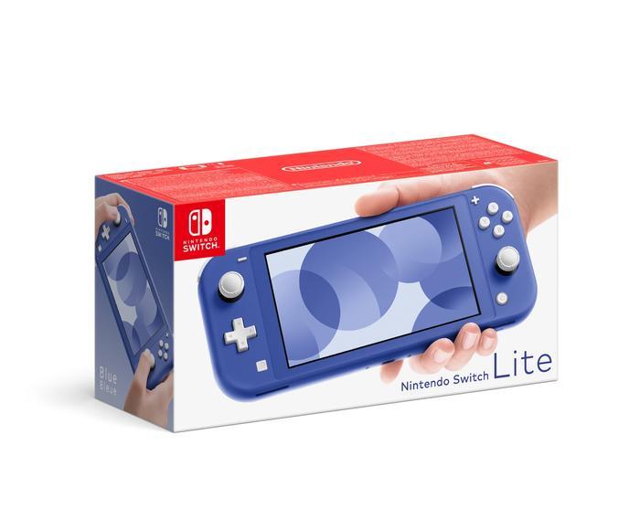 Blue Nintendo Switch Lite box
