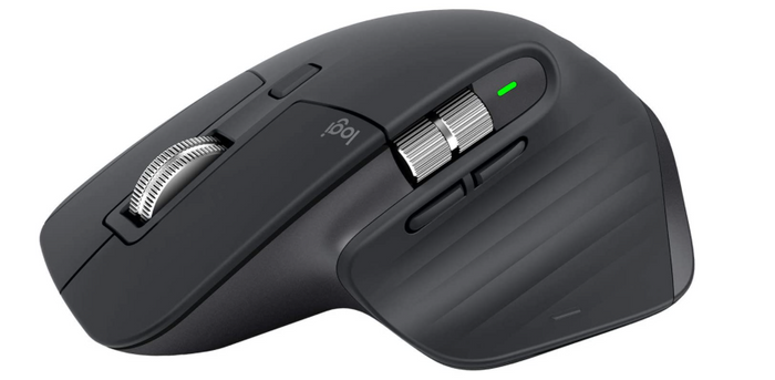 best ergonomic mouse, image of a grey and silver office mouse