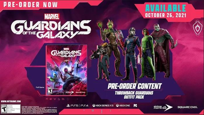 Pre-Order picture for Guardians of the Galaxy.