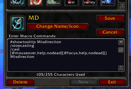 What the macro looks like in-game