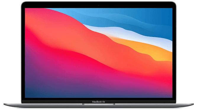 best laptops for programming, image of a space gray MacBook Air
