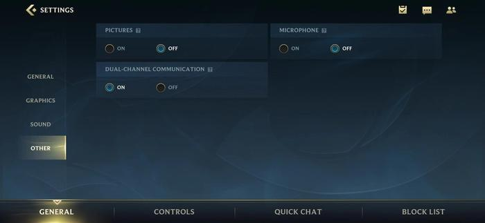 By going into the Settings menu and tapping Other, players can enable the Wild Rift dual-channel communication.