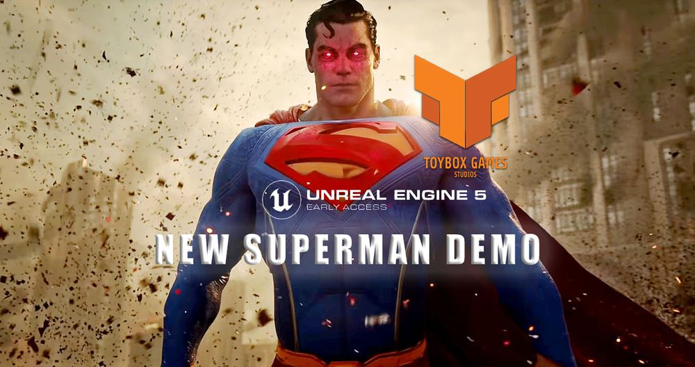 Game Developer Makes A Superman Game Demo Using Unreal Engine 5 And It's Astonishing