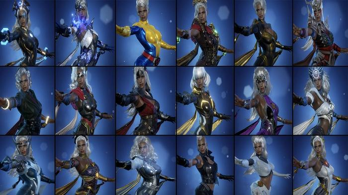 Every Marvel Future Revolution costume for Storm.