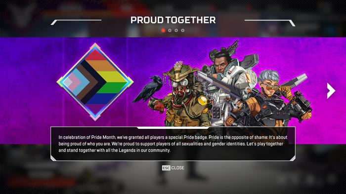 Apex Legends Proud Together screen