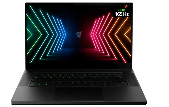 best laptops for programming, image of a black Razer laptop