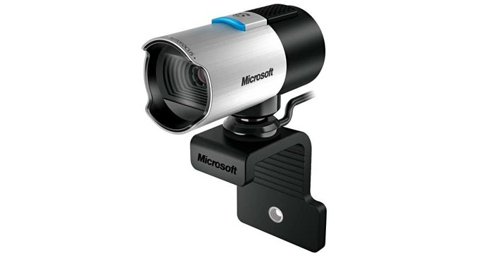 best webcam, product image of a silver and black webcam