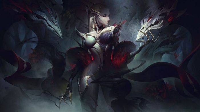 League of Legends COVEN EVELYNN splash art