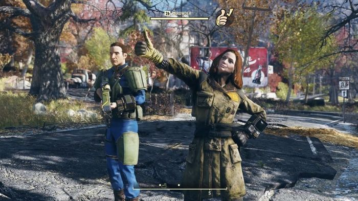 Fallout 76 Thumbs Up Emote