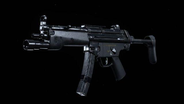 Modern Warfare MP5 SMG On Black Background