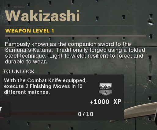 Wakizashi Black Ops Cold War