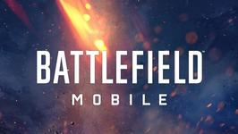 The words 'Battlefield Mobile' on a flaming background.