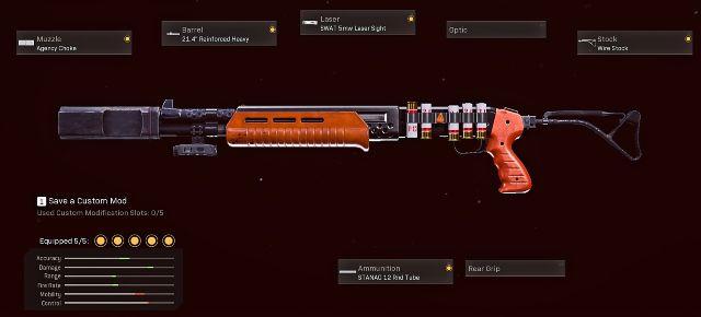 Gallo SA12 Shotgun With Five Attachments Equipped