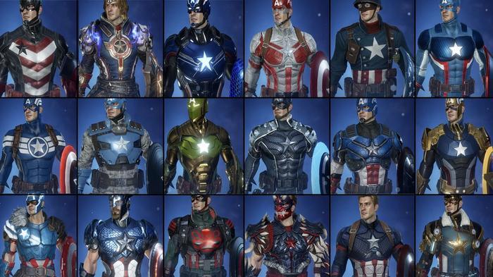 Every Marvel Future Revolution Captain America costume.