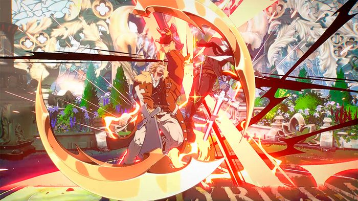Official Screenshot of Leo Whitefang from Guilty Gear Strive